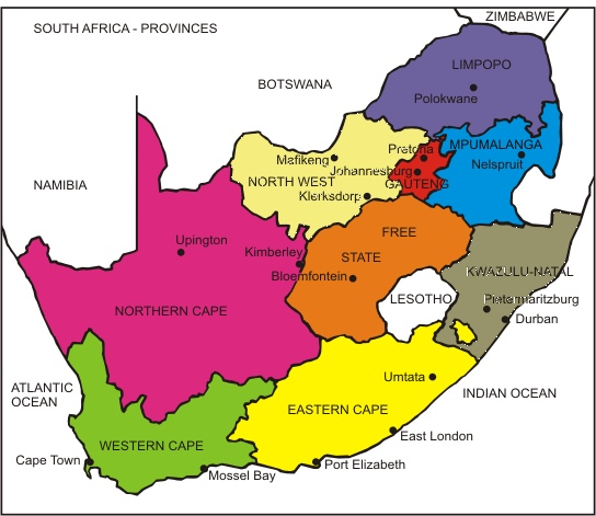 south-africa-political-map